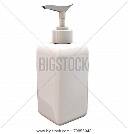 White blank plastic bottle, 3d