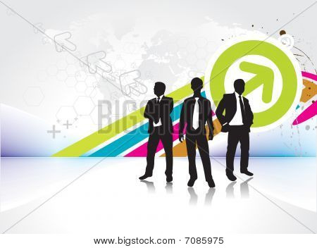 standing businessman silhouette