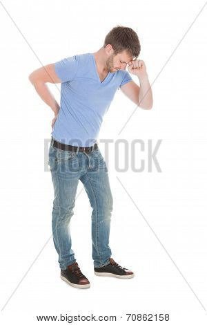 Mid Adult Man Suffering From Backache