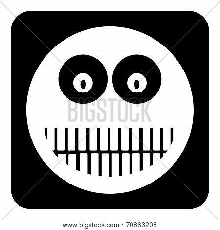 Monster Face Button
