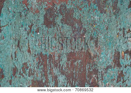 Abstract Corroded Colorful  Grunge Background Iron Rusty Artistic Wall Peeling Paint.