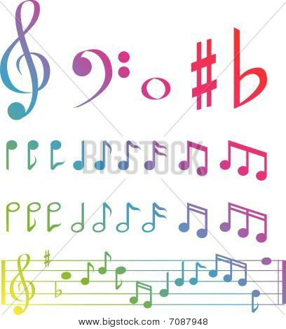 Music Note Selection Colour