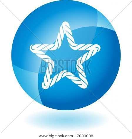 Rope Transparent Blue Icon