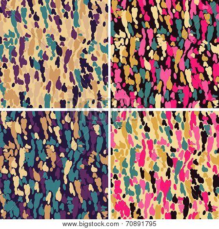 Funky seamless pattern set