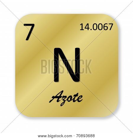 Nitrogen element, french azote