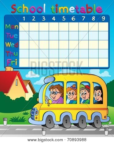 School timetable composition 8 - eps10 vector illustration.