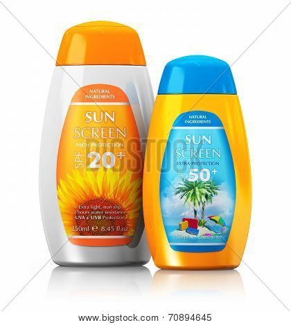 Set of sun care cosmetics
