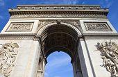 pic of charles de gaulle  - The impressive Arc de Triomphe in Paris France - JPG