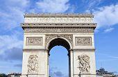 image of charles de gaulle  - The impressive Arc de Triomphe in Paris France - JPG