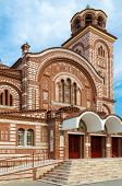 stock photo of nea  - Greece Chalkidiki Nea Kallikratia Church of St - JPG