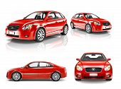 picture of luxury cars  - 3D Collection of Luxury Red Sports Car - JPG