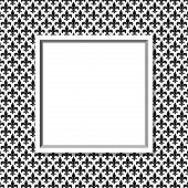 picture of fleur de lis  - Black and White Fleur De Lis Pattern Textured Fabric with Frame Background with center copy - JPG