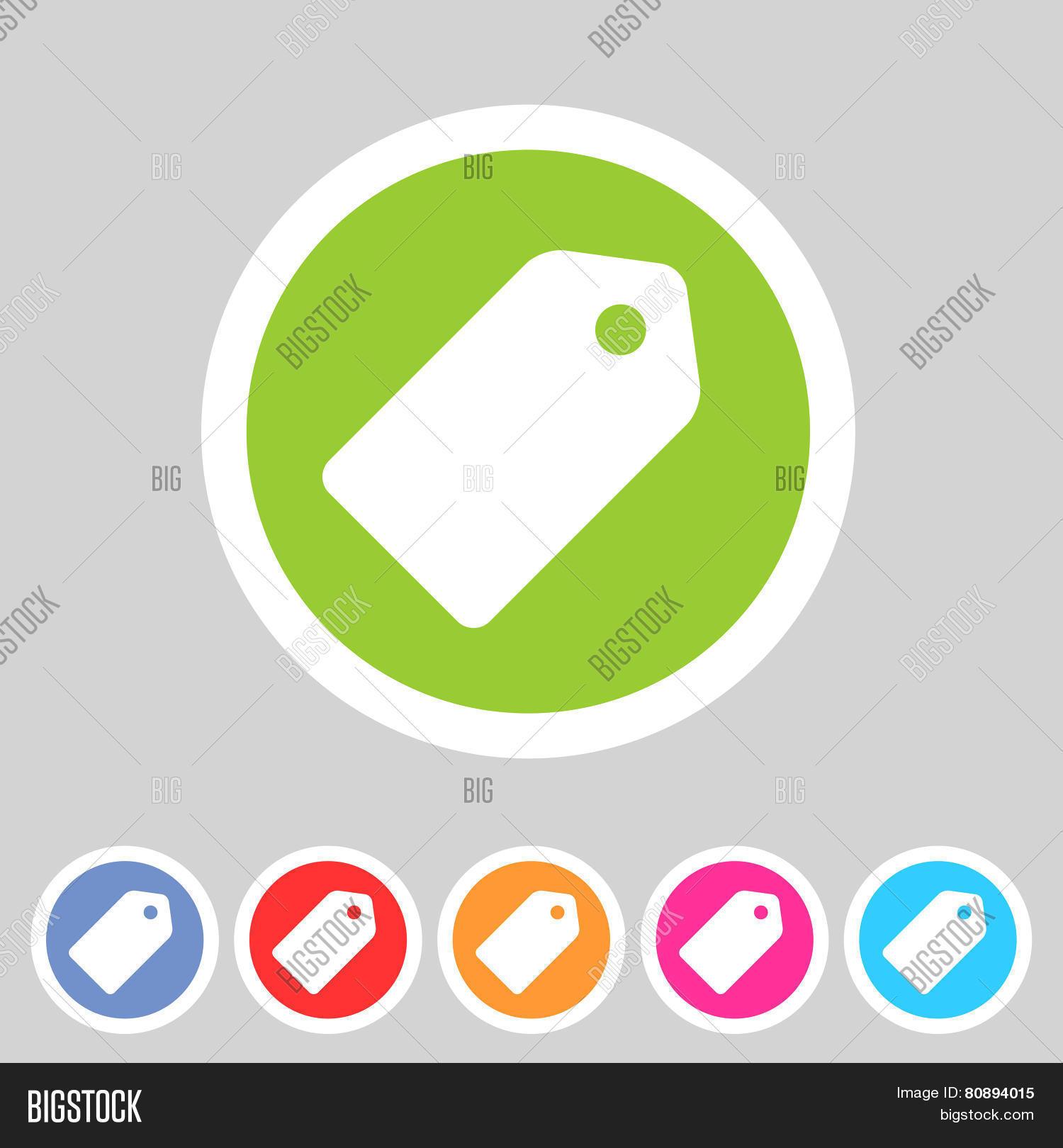 Price Tag Flat Icon Label Vector & Photo | Bigstock