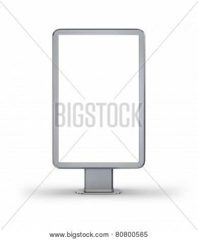 Vertical Billboard. Iillustration On White Background.
