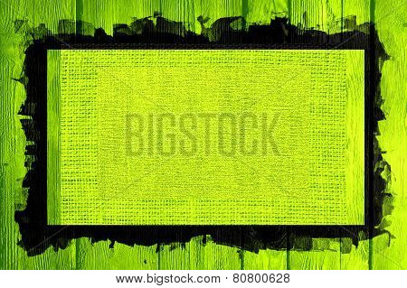 lime canvas textured wood background
