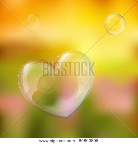 Vector illustration of bubble heart