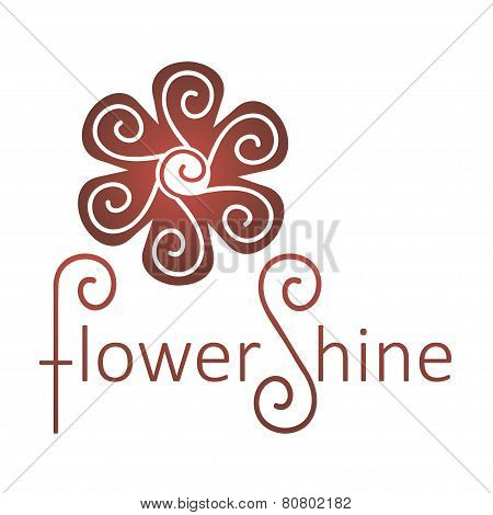 Abstract Infinite loop logo template. Vector flower.