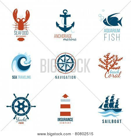 9 sea theme logo templates