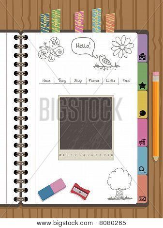 navegación de la web de Notebook