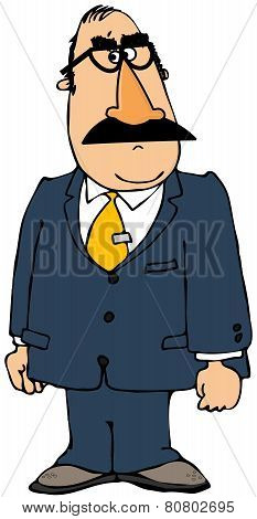 Businessman wearing a Groucho mask