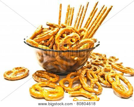 Some Pretzels And Breadsticks