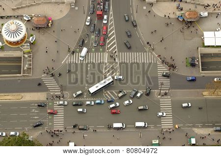 intersection in Paris, France