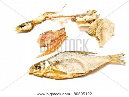 Stockfish, Skin And Skeleton Closeup