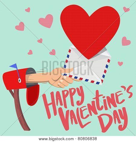Happy Valentine's Day Mail Box