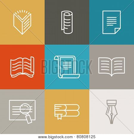 Vector Document And Paper Signs And Icons