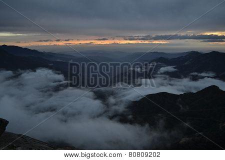 Sunset in Sierra Nevada