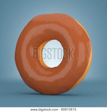 Donut In Chocolate Glaze