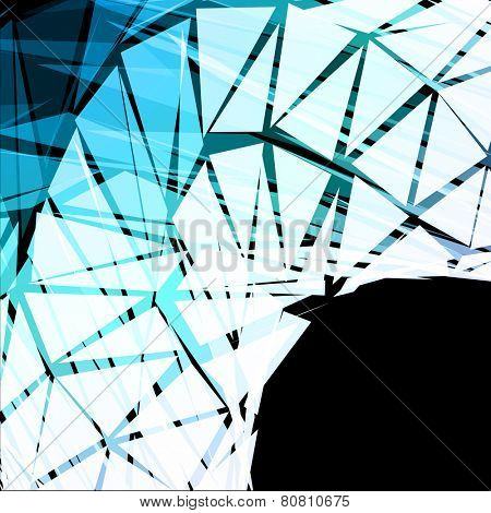 Turquoise Triangular Abstract Vector Background