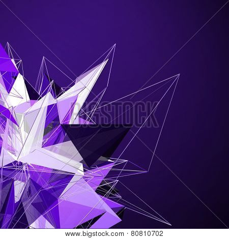 3D Geometrical Modern Abstract Background