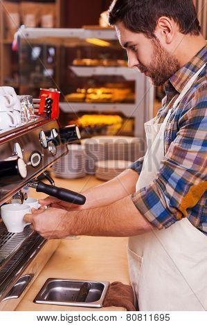 Making Fresh Coffee.