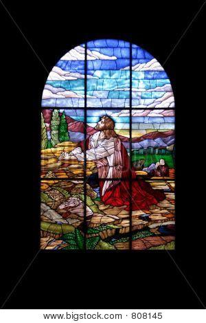 Glass in church window