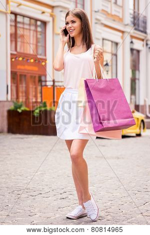 Taking With Friend During Shopping.