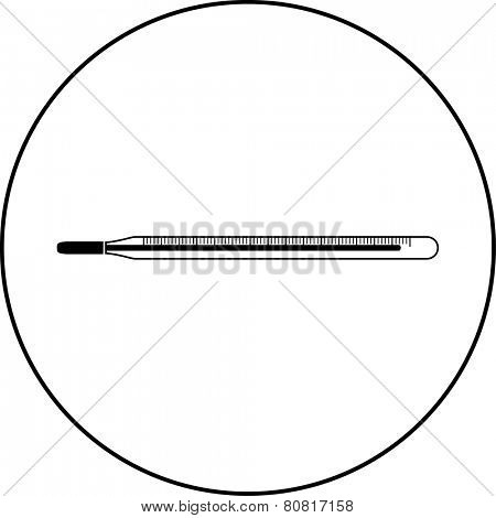 medical thermometer symbol