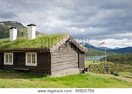 Sod Roof Log Cabin