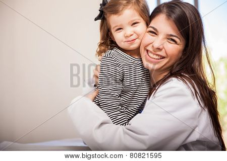 Pediatrician And One Of Her Patients