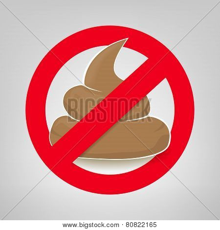 Clean Up After Your Pet Vector Sign With Crossed Poo