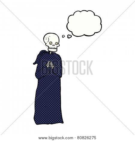 cartoon skeleton in robe
