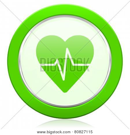pulse icon heart rate sign