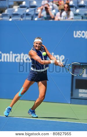Two times Grand Slam champion Victoria Azarenka from Belarus during US OPEN 2014 second round match
