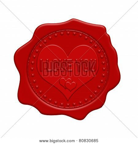 I Love You Red Wax Seal