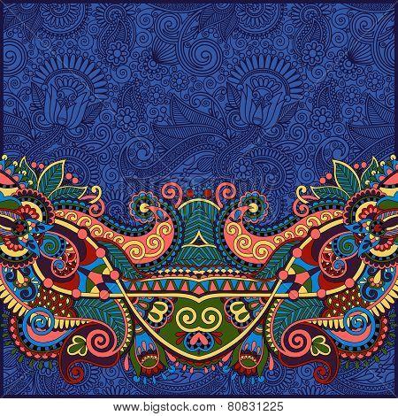 design on decorative floral background for invitation