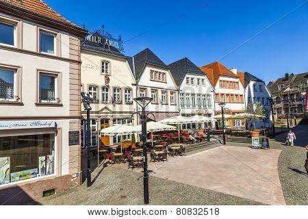 Old Market Place In St. Wendel, Fruitmarket
