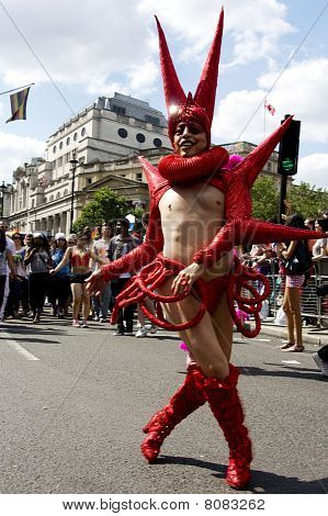 Dancer, Gay Pride London 2010