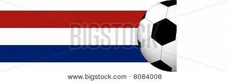 Dutch Flag with Soccer Ball