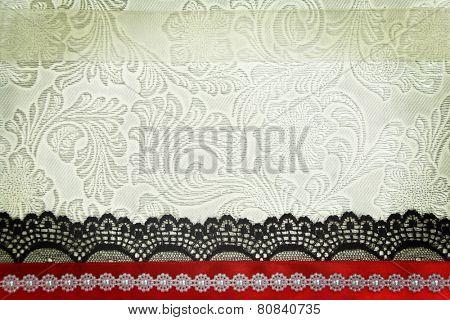 Decorative fabric background. Scrapbook, photobook concept