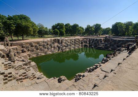 Stepwell At Sun Temple Modhera In Ahmedabad